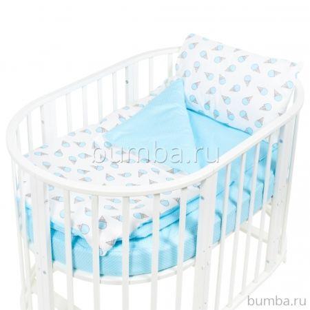 Комплект постельного белья Sweet Baby Yummy Turchese (4 предмета, бязь)