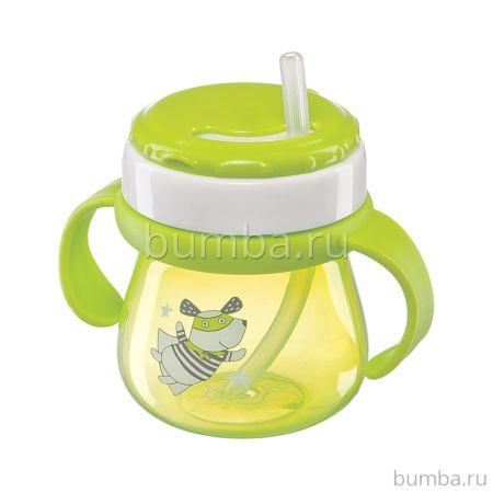Поильник Happy Baby Straw Feeding Cup с трубочкой и ручками