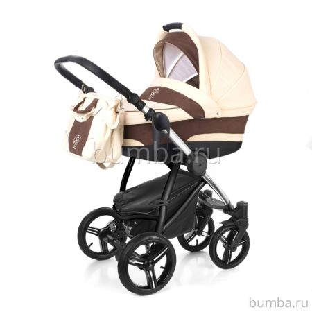 Коляска 2 в 1 Esspero Newborn Lux Chrome Beige Brown