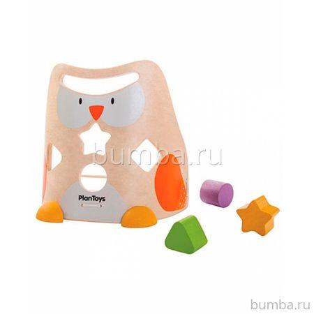 Развивающая игрушка PlanToys Сортер Сова
