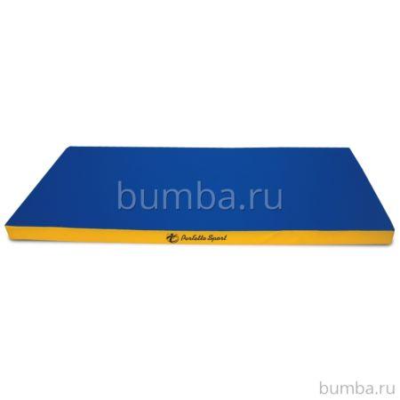 Гимнастический мат Perfetto Sport №6 200х100см (сине-желтый)