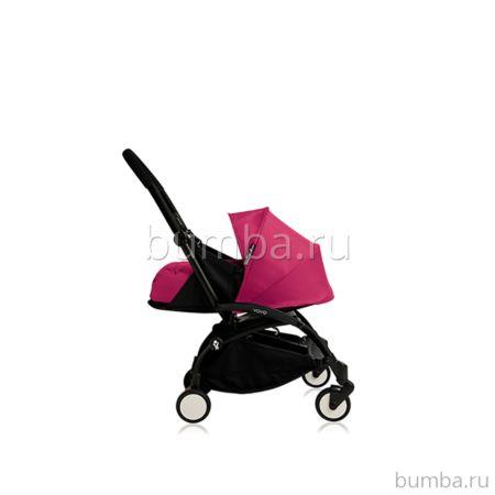 Коляска-люлька BABYZEN YoYo+ на чёрной раме (Розовый)