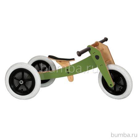 Беговел Wishbone Bike 3 в 1 (зеленый)