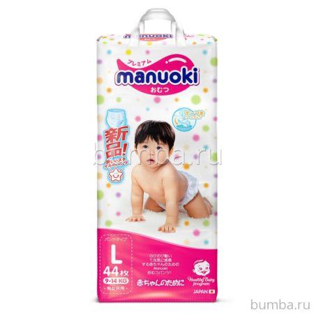 Подгузники-трусики Manuoki L (9-14 кг) 44 шт