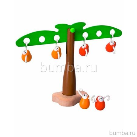 Развивающая игрушка PlanToys Балансирующие обезьянки