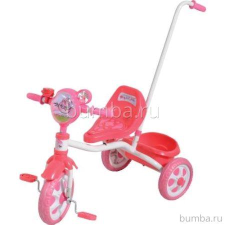 Трехколесный велосипед с ручкой 1Toy Angry Birds