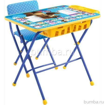 Комплект детской мебели Ника Детям Маша и медведь Английская Азбука КУ2П