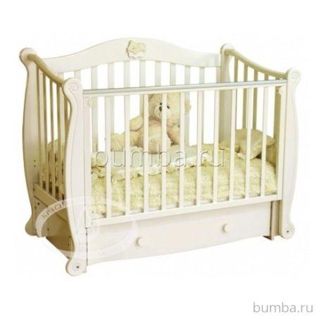 Кроватка детская Можга Валерия С 707 (продольный маятник) (слоновая кость)