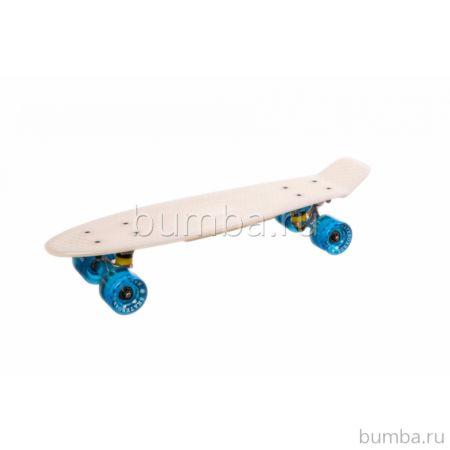 "Мини-круизер Fish Skateboards меняющий цвет 22"" (белый)"