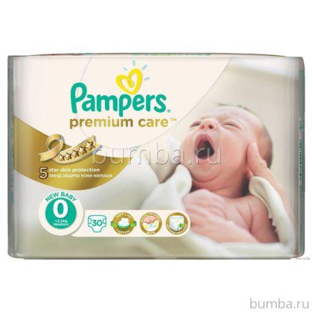 Подгузники Pampers Premium Care New Baby (1-2.5 кг) 30 шт