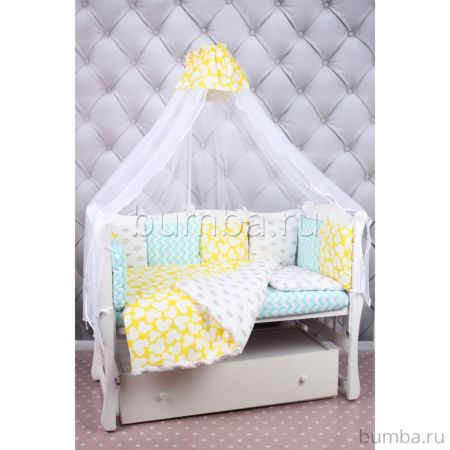 Комплект постельного белья AmaroBaby Happy Baby (19 предметов, бязь)
