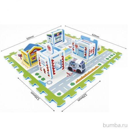 Коврик-пазл Санта Госпиталь + автомобиль 3046V