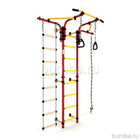 Детский спортивный комплекс Карусель S5 (красно-желтый)