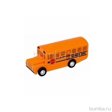 Деревянная машинка PlanToys Школьный автобус