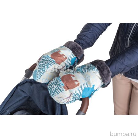 Муфта-рукавички для коляски Mammie (зимняя сказка)
