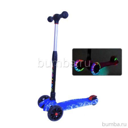 Самокат Ecoline Smart Eco B со светящимися колесами (синий)