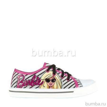 Кеды детские Barbie 6175B для девочек (серые)