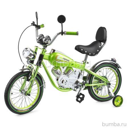 Велосипед-мотоцикл Small Rider Motobike Vintage (зеленый)