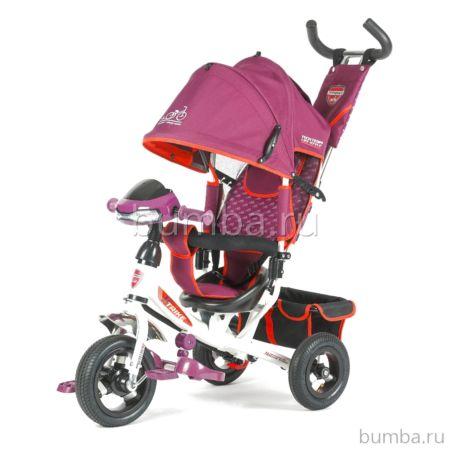 Трехколесный велосипед TechTeam 950D-ATMN с музыкальным блоком (фиолетовый)