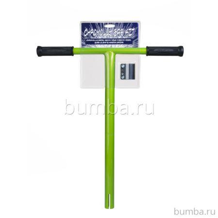 Руль для самоката Grit хромолевый с карбоновым хомутом (перломутрово-зеленый)