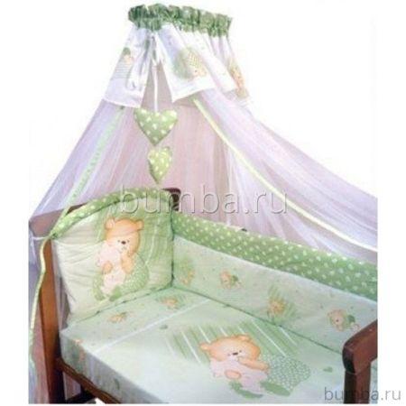 Комплект постельного белья Золотой Гусь Мишутка (зеленый) (3 предмета)