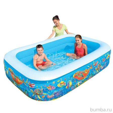 Надувной бассейн BestWay 54120BW Подводный Мир 702 л