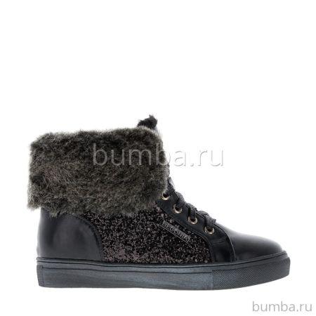 Ботинки детские Begonia 6217A для девочек (черные)