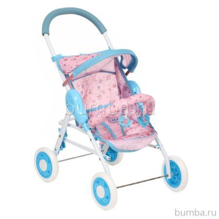 Коляска для куклы Игруша 8580 (Розовый+голубой)