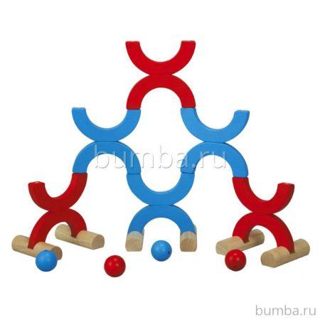 Развивающая игрушка PlanToys Кегли и метания