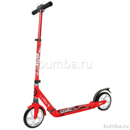 Самокат Hello Wood Racer (красный) ДИСКОНТ