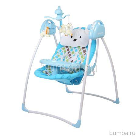 Электрокачели Baby Care Butterfly с адаптером (синий)