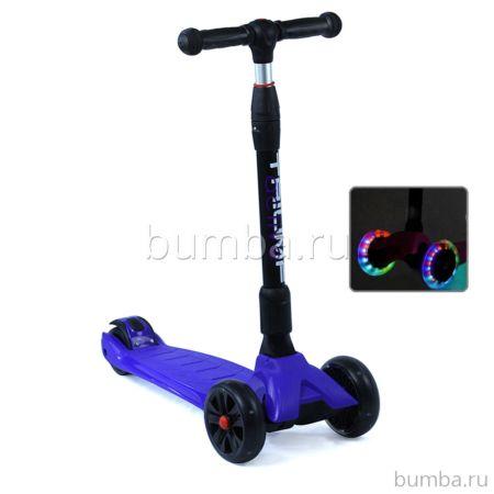 Самокат Triumf Active Maxi Pro Flash со светящимися колесами (синий)