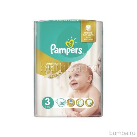 Подгузники Pampers Premium Care Midi (5-9 кг) 20 шт