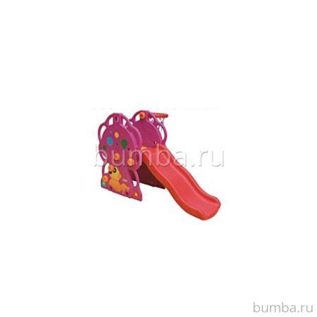 Горка детская QiaoQiao Toys Грибок с баскетбольным кольцом