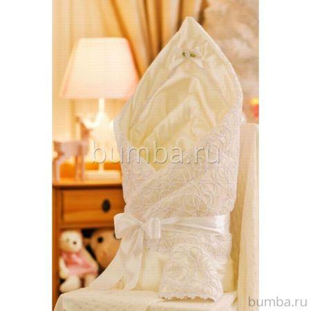 Одеяло на выписку летнее Арго Ажур (шампань)