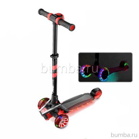 Самокат Small Rider Premium Pro со светящимися колесами (красный)