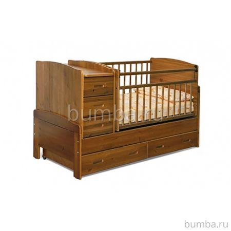 Кроватка-трансформер Noony Wood Chalet (светлый дуб)