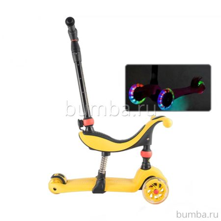 Самокат TechTeam TT Genius со светящимися колесами 2018 (желтый)