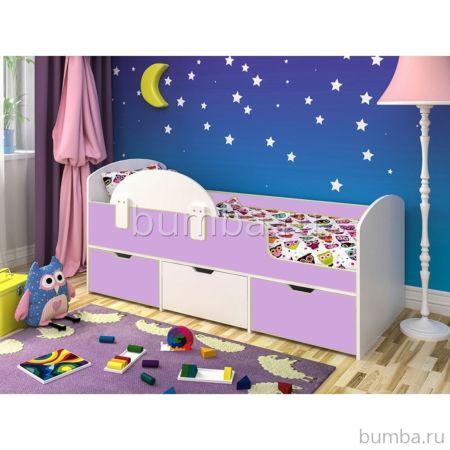 Кровать детская Ярофф Малыш Мини (белое дерево/ирис)