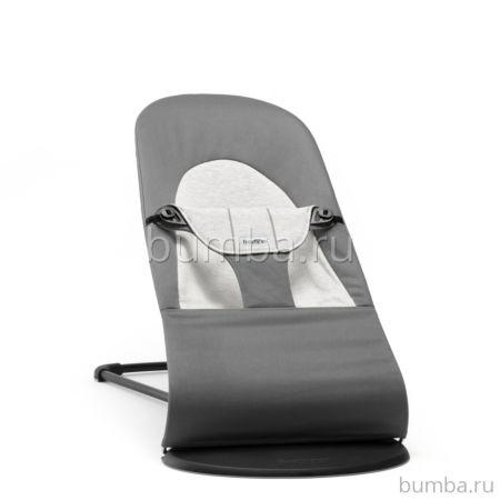 Кресло-шезлонг BabyBjorn Balance Soft Cotton Jersey (Темно-серый с серым)