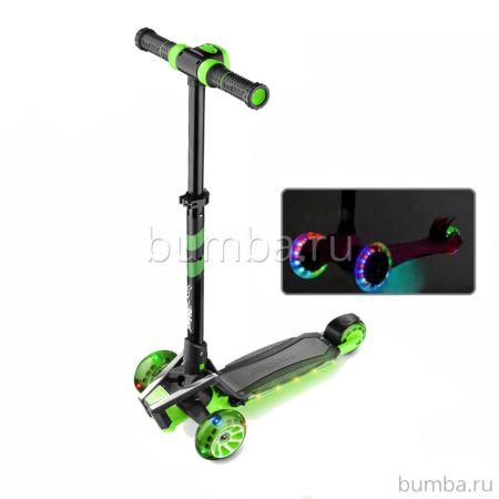 Самокат Small Rider Premium Pro со светящимися колесами (зеленый)