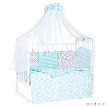 Комплект постельного белья Sweet Baby Fiocco Verde (7 предметов, бязь)