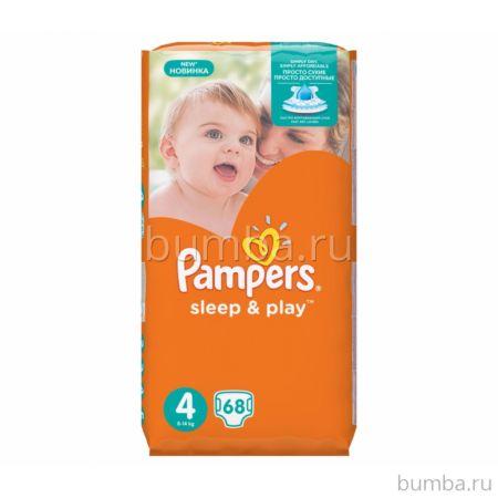 Подгузники Pampers Sleep&Play Maxi (8-14 кг) Ромашка 68 шт