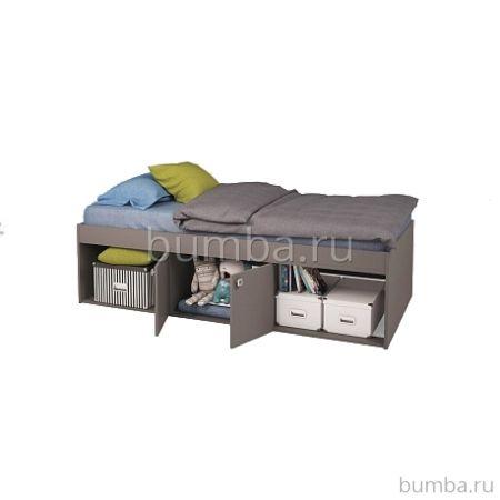 Кровать детская Polini Simple 3000 (серая)