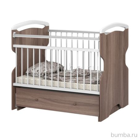 Кроватка детская Sweet Baby Ofelia (поперечный маятник) Marrone Bianco