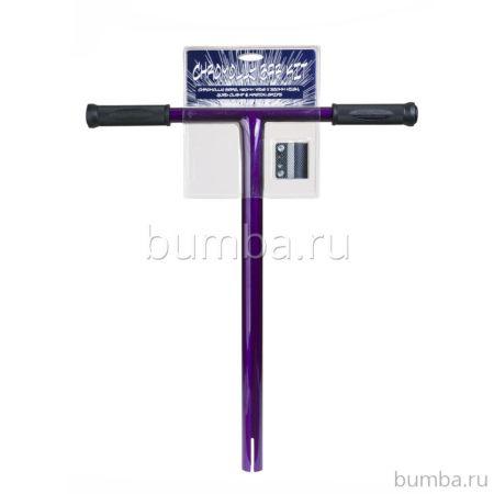 Руль для самоката Grit хромолевый с карбоновым хомутом (фиолетовый)