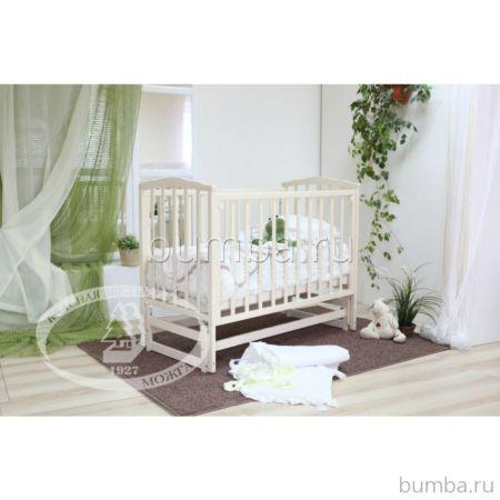 Кроватка детская Можга Кристина (продольный маятник) (белый)