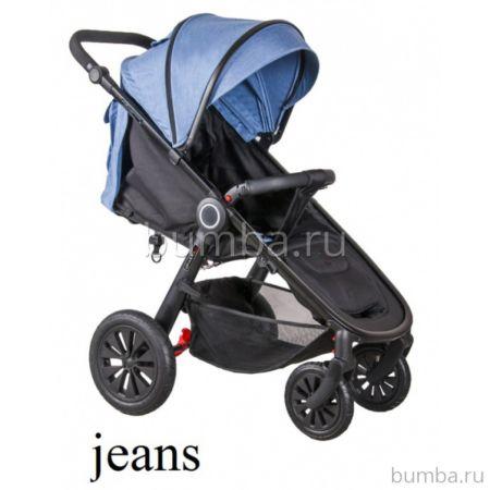 Коляска прогулочная Coletto JOGGY на чёрной раме (Jeans melange)
