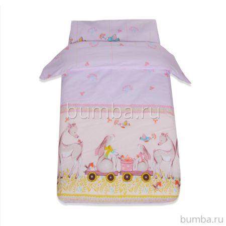 Комплект постельного белья Baby Care Оленята (3 предмета, хлопок)