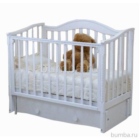 Кроватка детская Можга Леонардо С770 (продольный маятник) (белый)